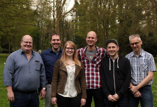 Der neu gewählte Vorstand. Vlnr: Volker, Raimund, Sina, Merlin, Manuel, Bernhard