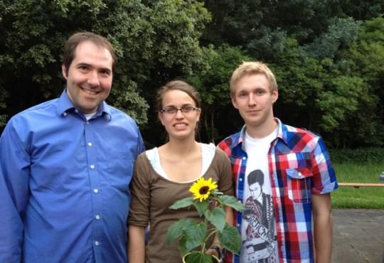 vlnr.: Raimund Berg, Barbara Flatters, Manuel Paas
