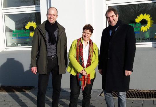 Parteivorstand mit GRÜNER Landtagskandidatin Martina Maaßen Foto: B90/DIE GRÜNEN