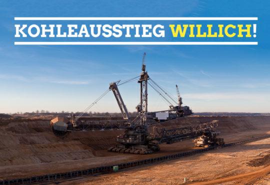 """Kampagnenbild """"Kohleausstieg Willich"""""""