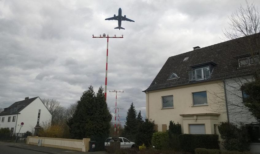 Startbahn Flughafen Düsseldorf